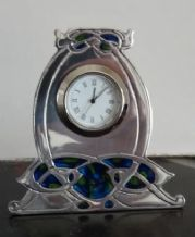 Archibald Knox No'43 Small Pewter Clock